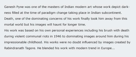 Ganesh Pyne - brush with mythology