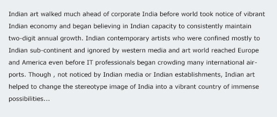 Indian contemporary art vibrant despite melt-down