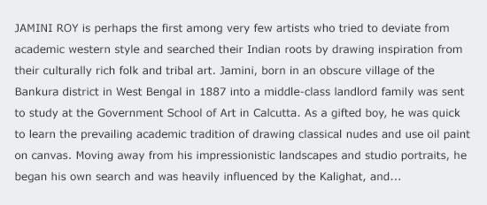 Jamini Roy - a true rebel artist