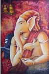 Ganesha - II, Painting by Anirban Seth