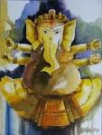 Ganesha, Painting by Anirban Seth
