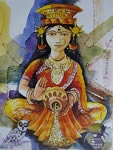 Lakshmi Maa, Painting by Anirban Seth
