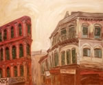 The Remaining Buildings, Painting by Arunabha Ghosh
