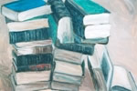 books, Painting by Arunabha Ghosh