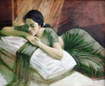 Reverie, Fugurative, Painting by B R Kulkarni