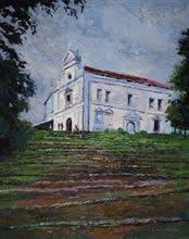 Goan Church, Painting by Chitra Vaidya