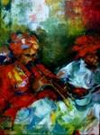 Musicians - III, Painting by Debjani Datta