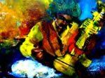 Musicians - IV, Painting by Debjani Datta
