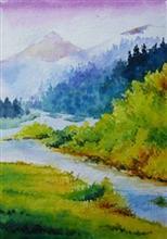 Landscape, Painting by Deepali Sagade