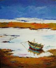 Waiting, Painting by Deepali Sagade
