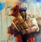 Bandwala, Painting by Dinkar Jadhav