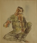 Music, Figurative, Painting by Dinkar Kowshik