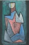 Untitled - I, Figurative, Painting by Dinkar Kowshik