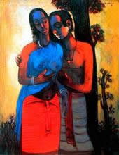 Couple, Painting by G A Dandekar