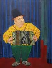 Musician, Painting by Kabari Banerjee