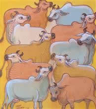 Untitled - 71, Painting by Natubhai Mistry