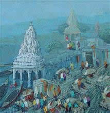 Banaras - 10, Painting by Yashwant Shirwadkar