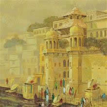 Banaras - 4, Painting by Yashwant Shirwadkar