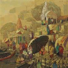 Banaras - 6, Painting by Yashwant Shirwadkar