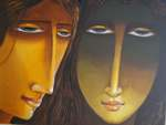 Face - III, Painting by Ananda Das