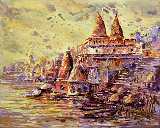 Banaras paintings by Chitra Vaidya