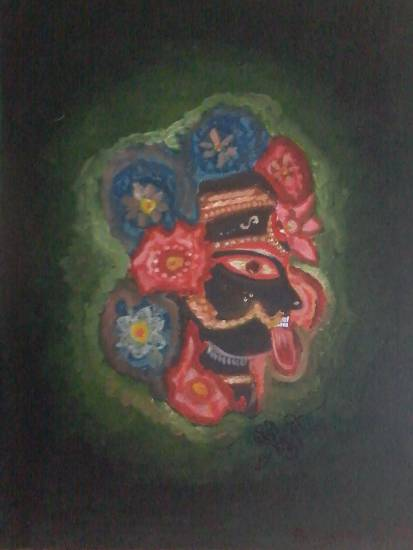 Rani Ma - 5, painting by Priyanka Dutta, recently added to Indiaart.com