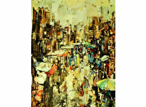 Entropy of chaos Paper Collage Art Exhibition by Sukanta Dasgupta