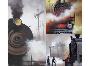 Indian Steam Locomotives Out of Museum by kishore Pratim Biswas