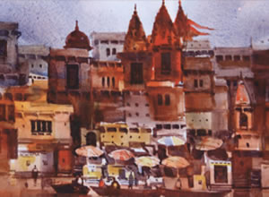 A Solo Exhibition of Painting and Graphics by Prof. S. P. Mohanty