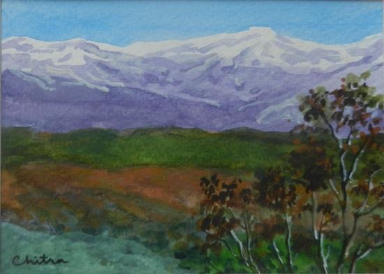 Kumaon Mountains - 8, painting by Chitra Vaidya