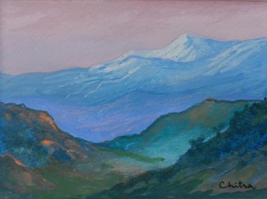 Kumaon Mountains - 9, painting by Chitra Vaidya