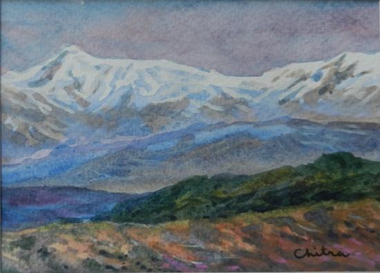 Kumaon Mountains 10, painting by Chitra Vaidya