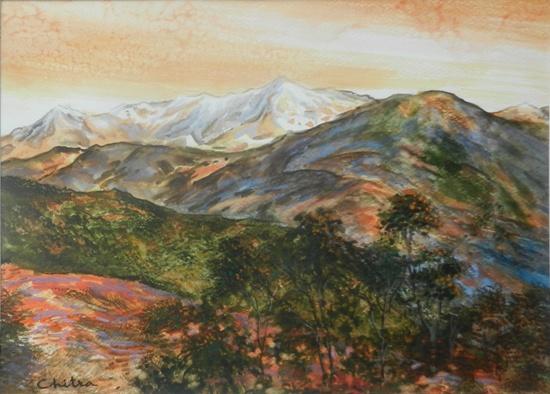 Kumaon Mountains - 31 , painting by Chitra Vaidya