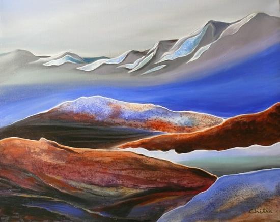 Kumaon Mountains - 15 , painting by Chitra Vaidya