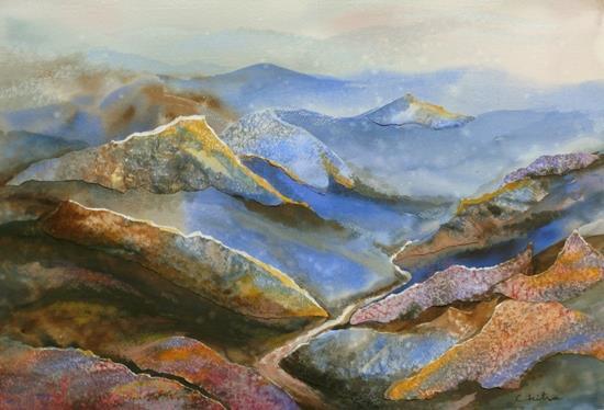 Kumaon Mountains - 2, painting by Chitra Vaidya