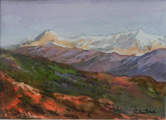 Kumaon Mountains - 11 , painting by Chitra Vaidya