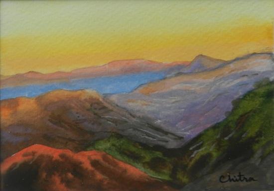 Kumaon Mountains - 7 , painting by Chitra Vaidya