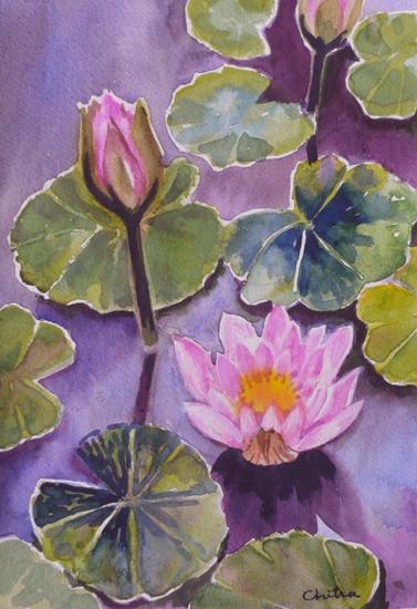 Lotus - 2 , painting by Chitra Vaidya