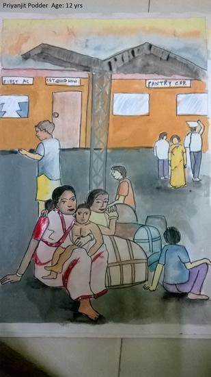 painting by Priyanjit Podder