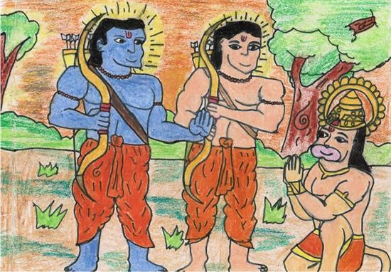 painting by Sahil Kanojiya