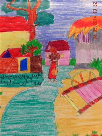 painting by Shrijoni Dasgupta