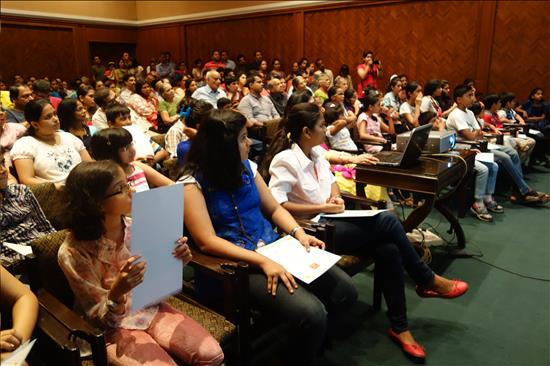 Packed audience at Harmony Hall,Nehru Centre, Mumbai