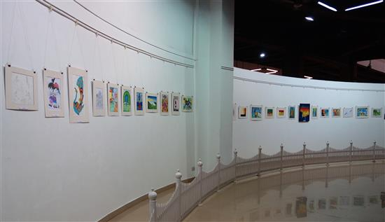 View of the circular gallery at Nehru Centre