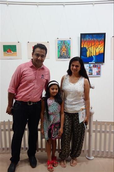 Child Artist with Parents