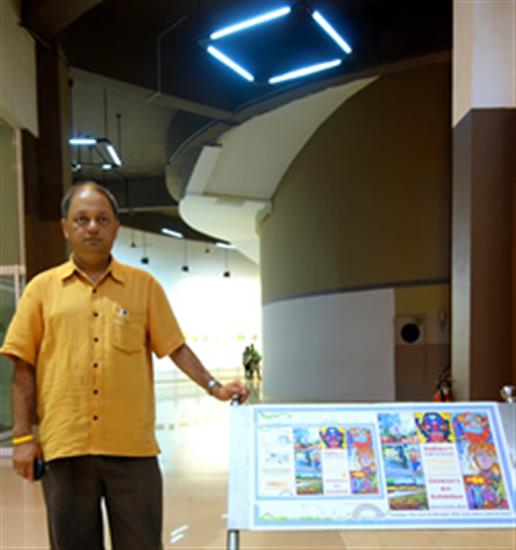 Milind Sathe at Children's Art Exhibition