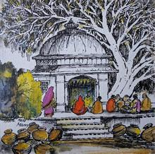 Exhibition of paintings by Natubhai Mistry