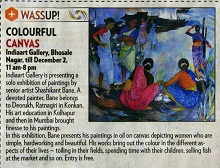 Media coverage for Exhibition of paintings by Shashikant Bane