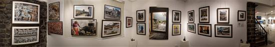 Another panoramic view of the display of Milind Sathe's photography show