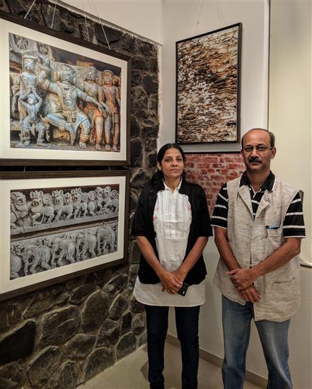 Ar. Chanda and Ar. Atul Kanetkar at Milind Sathe's photography show
