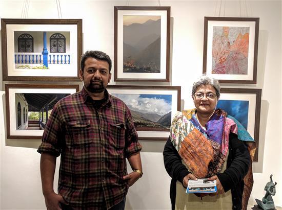 Chinmoy Karandeekar with Yashodhara Bhalerao at Indiaart Gallery
